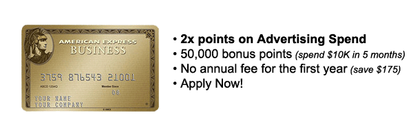 New double rewards on marketing and advertising spend for Amex small business credit card