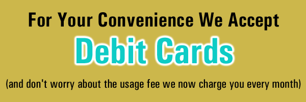 debit card monthly usage fees