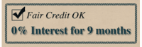 Fair Credit? 0% Interest for 9 Months on New Purchases