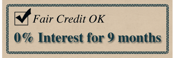 fair credit no interest loan for 9 months